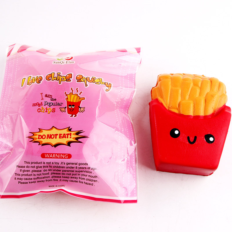 SanQi Elan Squishy French Fries Chips Licensed Slow Rising With Packaging Collection Gift Decor Toy