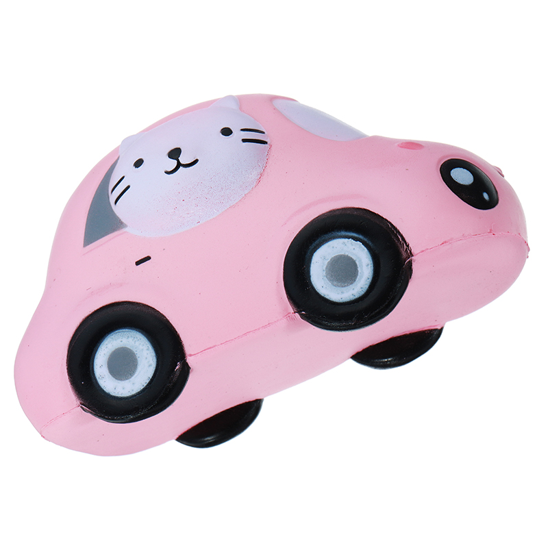 Sanqi Elan Cartoon Face Car Design Squishy Doll Phone Straps 15CM Slow Rising Toy With Packaging