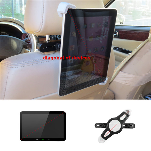 7-10 inch Car Rear Seat Headrest Adjust Tablet Mount Holder For iPad Samsung Tablet