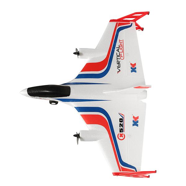 XK X520 2.4G 6CH 5G WIFI FPV VTOL Vertical Takeoff And Landing 3D EPP RC Airplane RTF