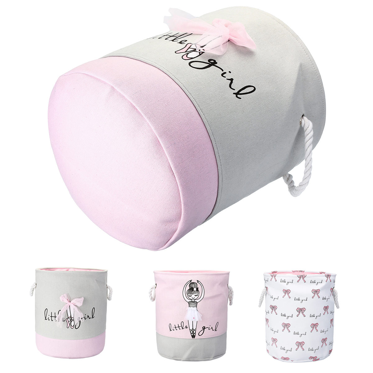 Foldable Kids Toy Clothes Storage Bag Printed Laundry Hamper Clothes Washing Baskets Laundry Basket