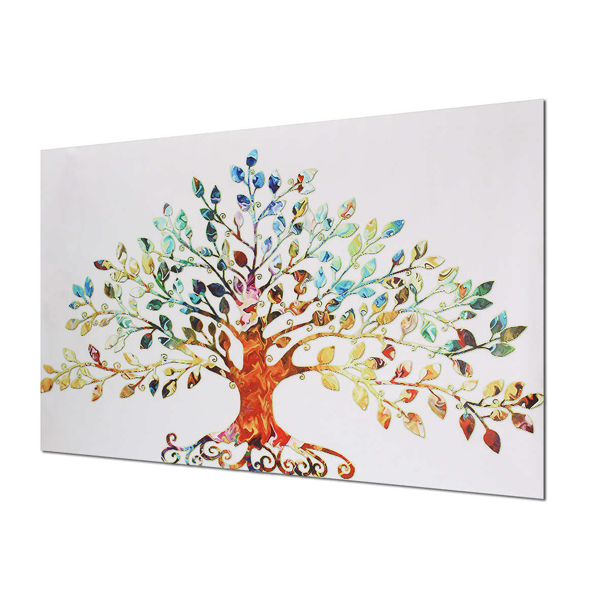 75X50CM Picture-Abstract Colorful Leafy Tree Unframed Canvas Print Wall Art Home Decoration