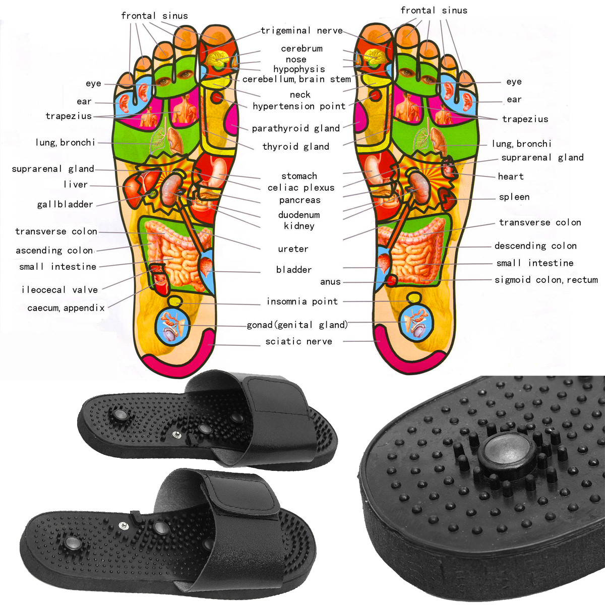 Digital Physiotherapy Massage Tools Acupoint Slipper Electrode Foot Equipment Massager Relaxation