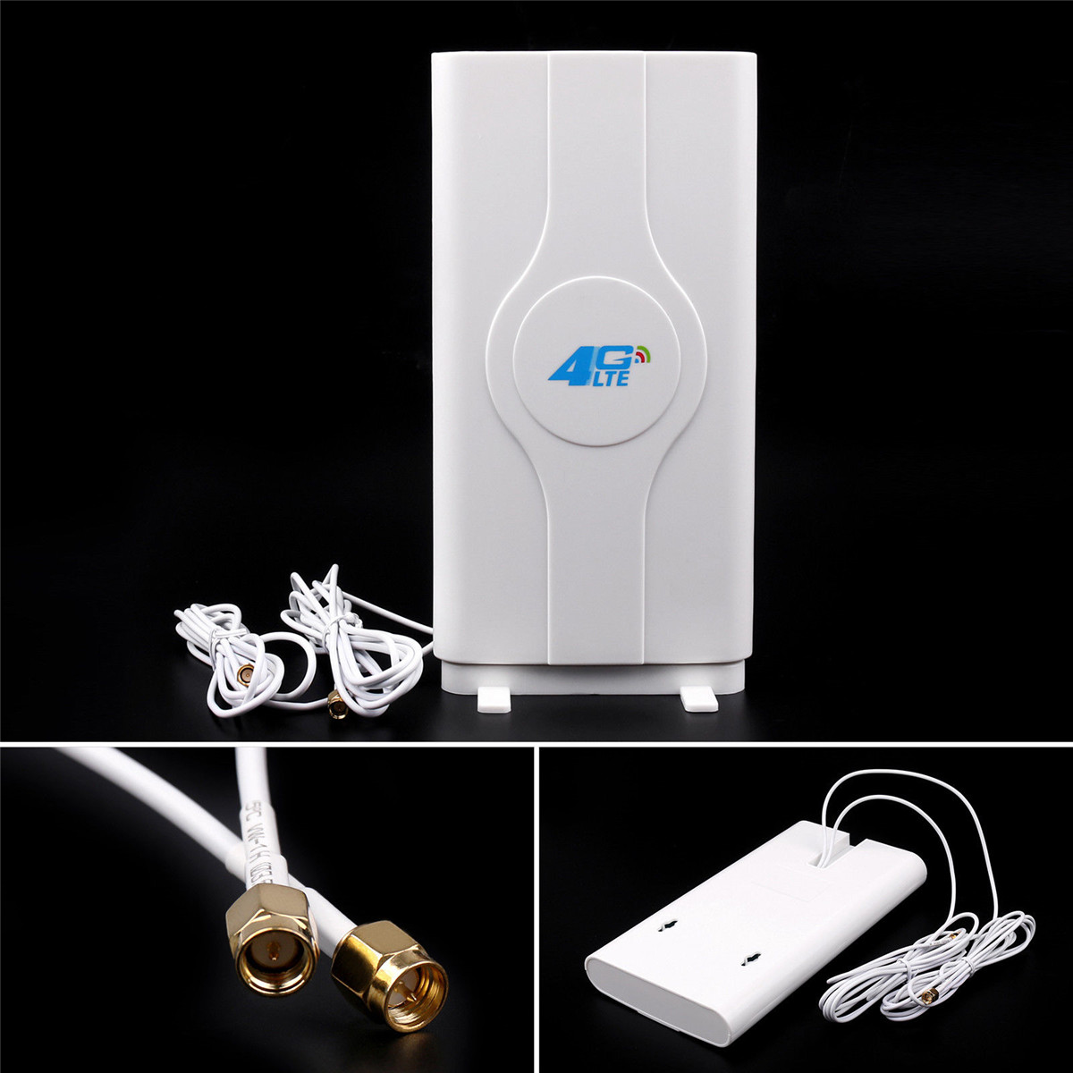 Indoor Blazing Fast 3G 4G 88dBi LTE MIMO Antenna with 700MHz-2600MHz 2M SMA Wire