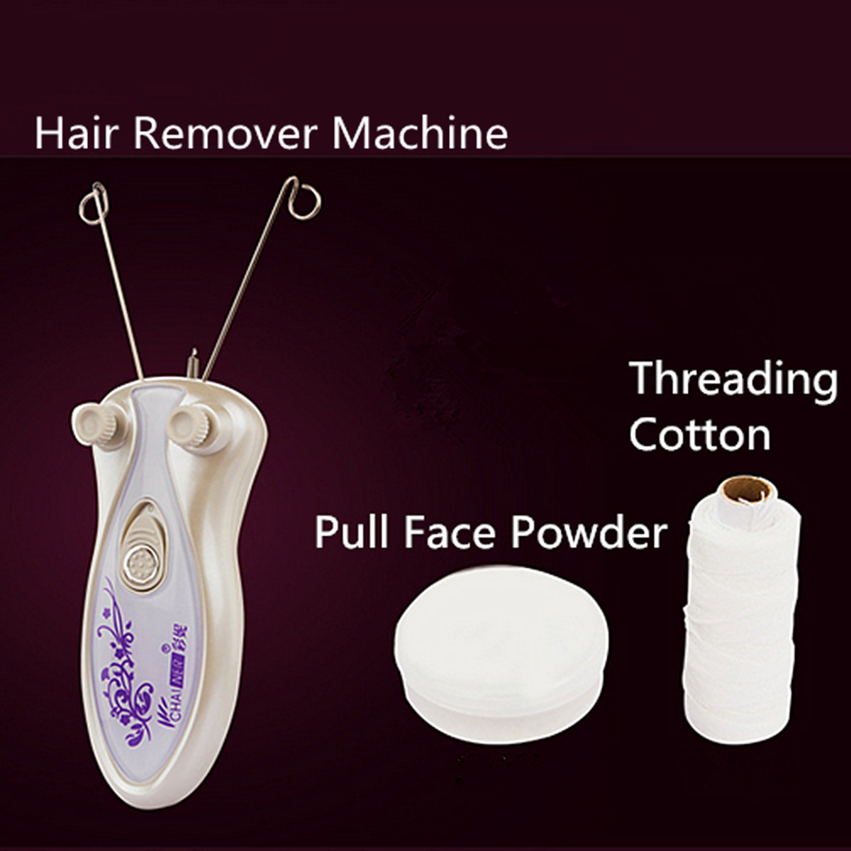 Electric Body Face Facial Cotton Thread Epilator Hair Remover Machine