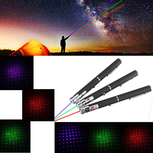 XANES GD12 2 in 1 Aluminum Pen Red/Purple/Green Light Visible Star Laser Pointer