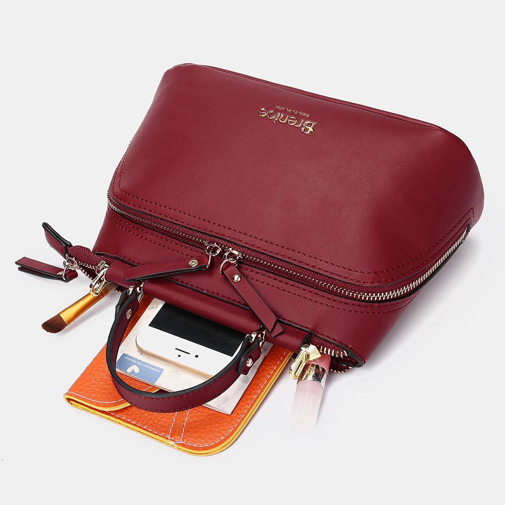 Brenice Women Design Solid Handbag Multifunction Bag