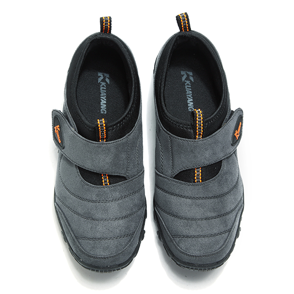 Men Breathable Hook Loop Elastic Outdoor Hiking Sneakers