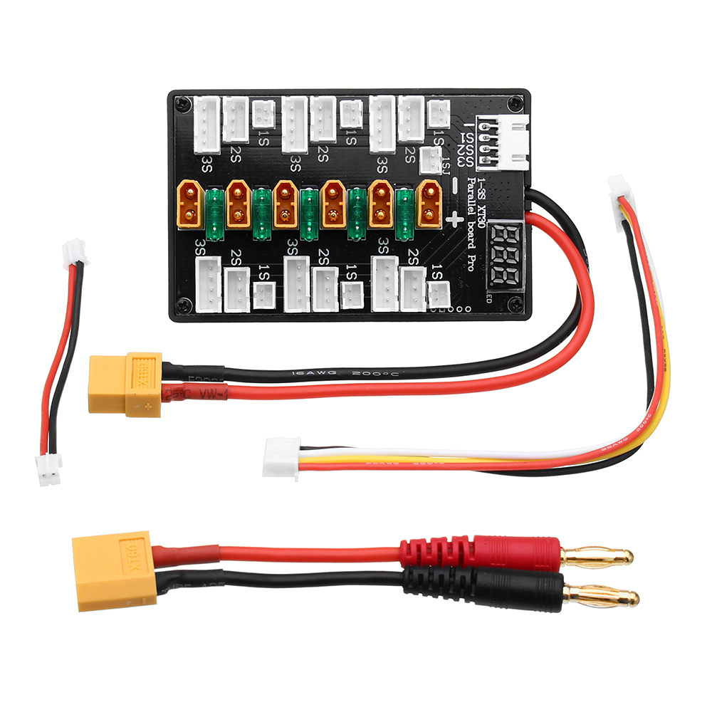 XT30 Plug 1S-3S Lipo Battery Upgrade Version Parallel Charging Board for IMAX B6 Balance Charger