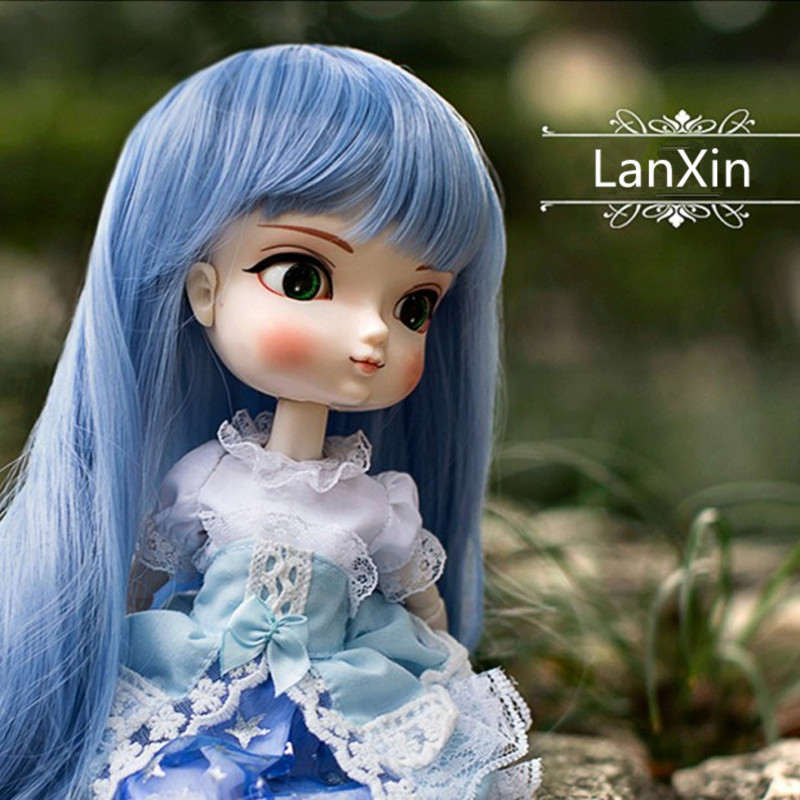 BBGirl BJD Doll Blue Hair For 30cm 35cm Doll DIY Accessories Toy