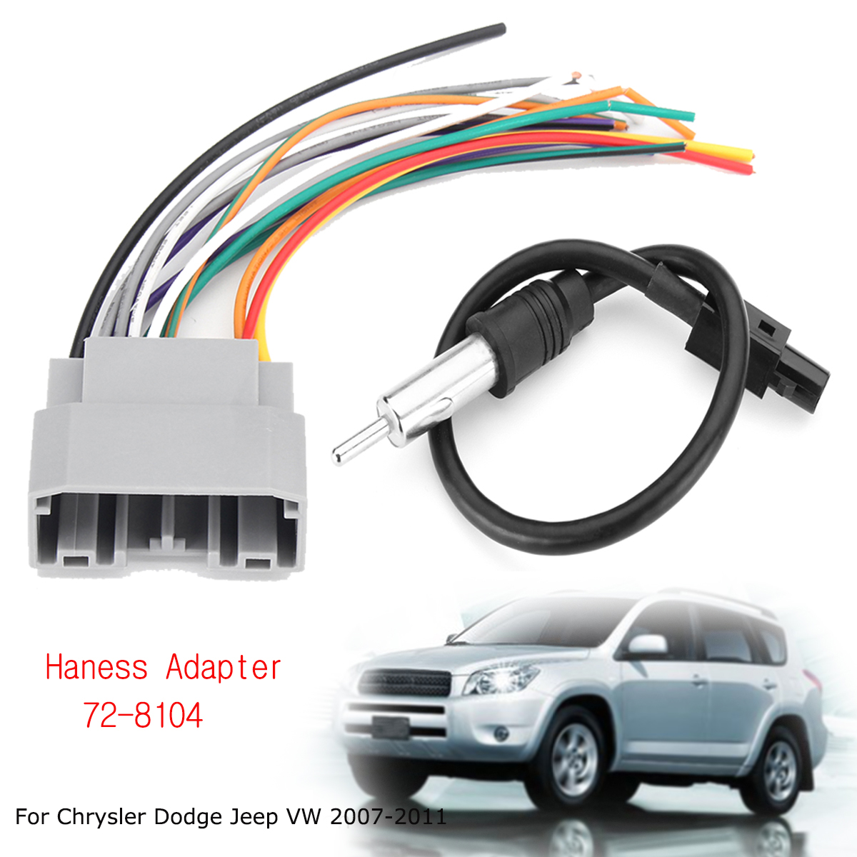 Car Stereo Wiring Harness Adapter Antenna For Chrysler Dodge Jeep Adapters Shipping Methods