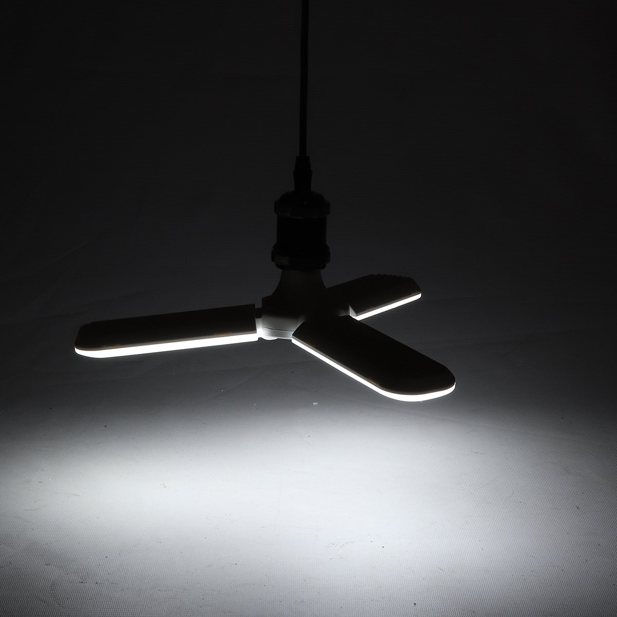 E27 36W Foldable LED Ceiling Fan Light Bulb Night Lamp Chandelier for Hallway Indoor Home Use