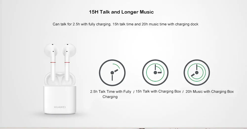 Original Huawei FreeBuds 2 TWS bluetooth 5.0 Earphone HWA Stereo Binaural Call Bone Voiceprint Recognition Headphone