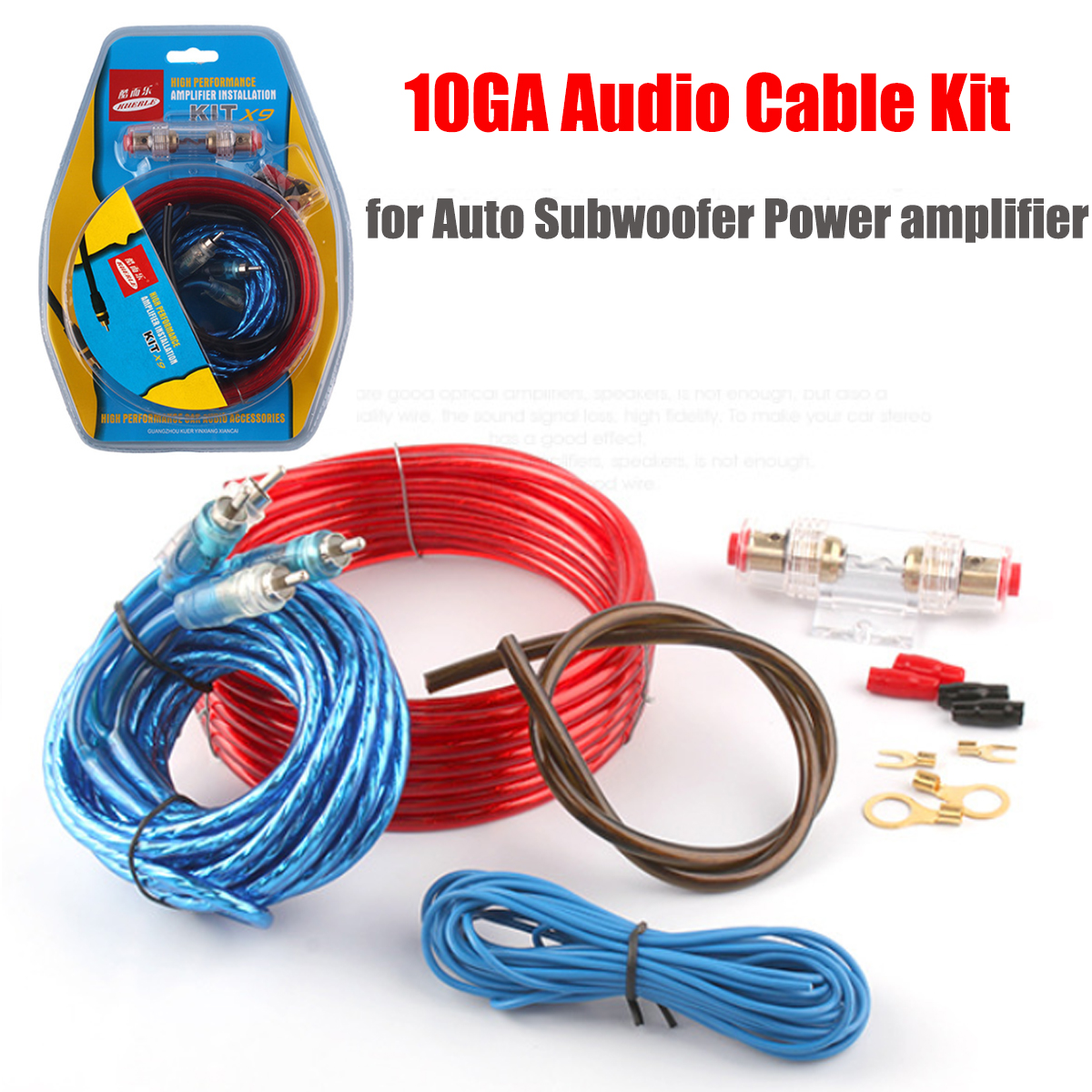 Car Audio Subwoofer Sub Amplifier Amp Rca Wiring Kit Power And Shipping Methods
