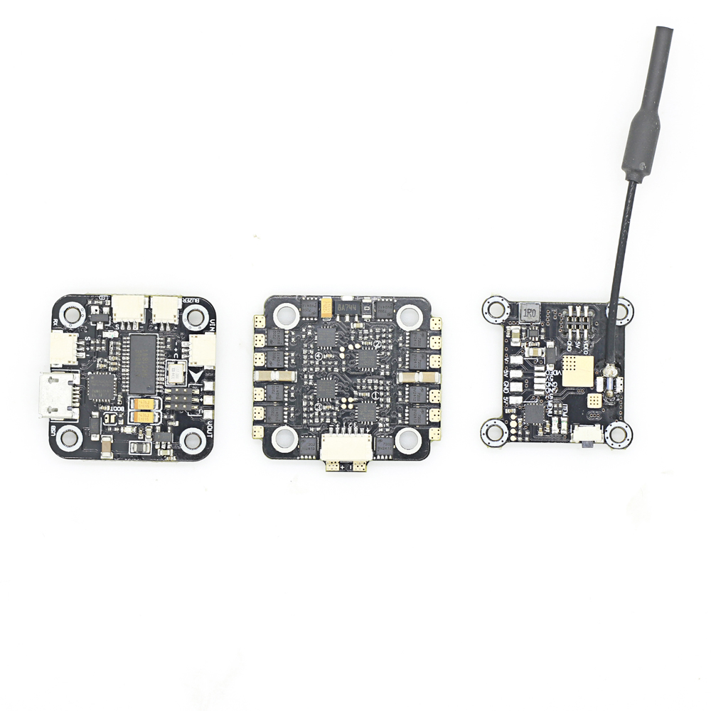 Mini F4 Flytower F4 V1.0 Flight Controller OSD + 20A BLHeli_S 2-4S ESC Dshot600 + 40CH 25/100mW VTX - Photo: 5