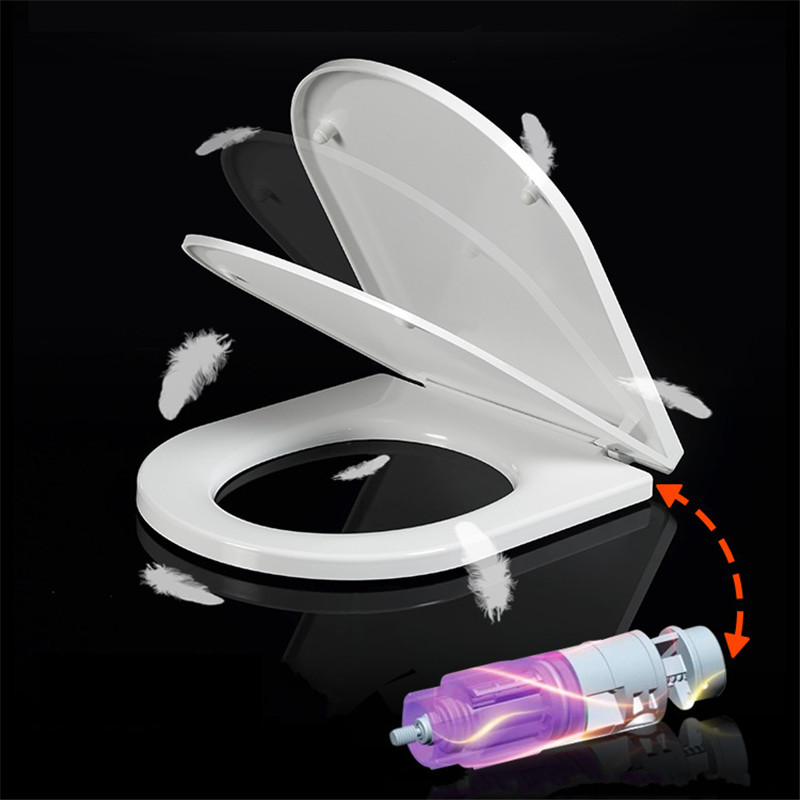 U Type Slow-Close Toilet Seats Cover Ultra-thin Toilet Seat Lid Universal Toilet Replacement Parts Bathroom Toilet Seat