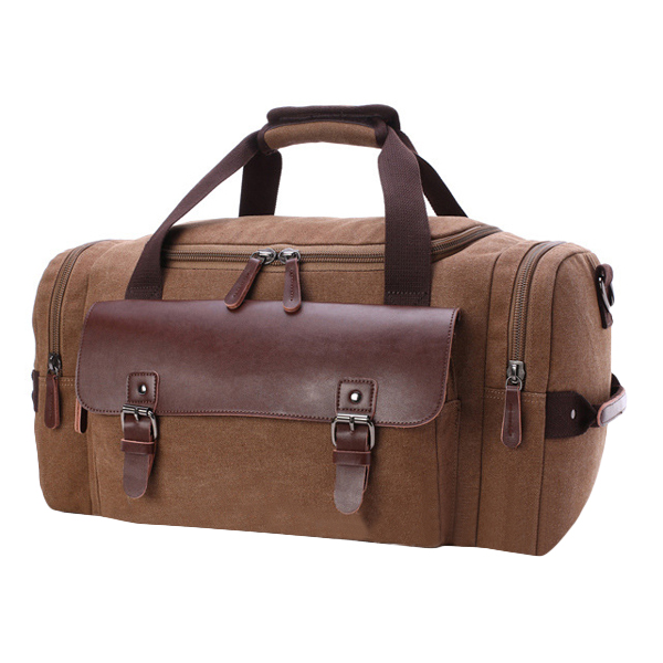 Men Retro Canvas Luggage Handbag Duffle Bag Big Capacity Travel Holdall Bag