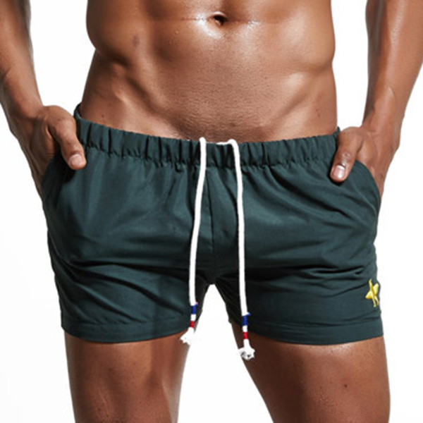 SUPERBODY Summer Men's Solid Color Elastic Shorts