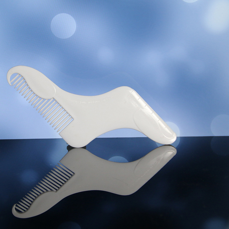 1pc Beard Comb Template Anti-Static Trimmer Beard Comb Brush Hair Styling Tool For Men Beard Trim