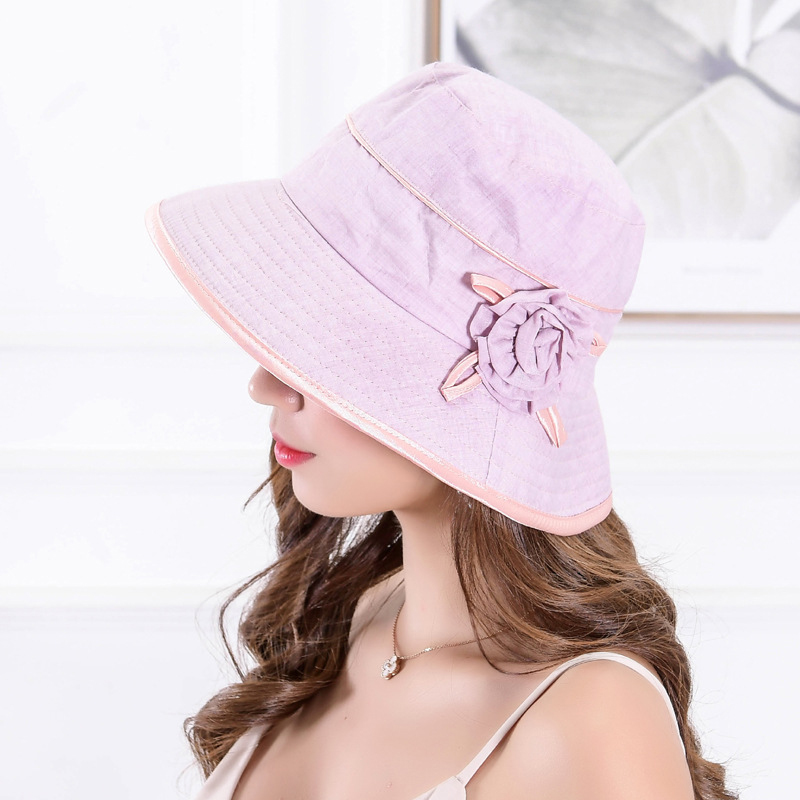 Women Sun Protection Wide Birm Beach Bucket Cap Fishing Hat