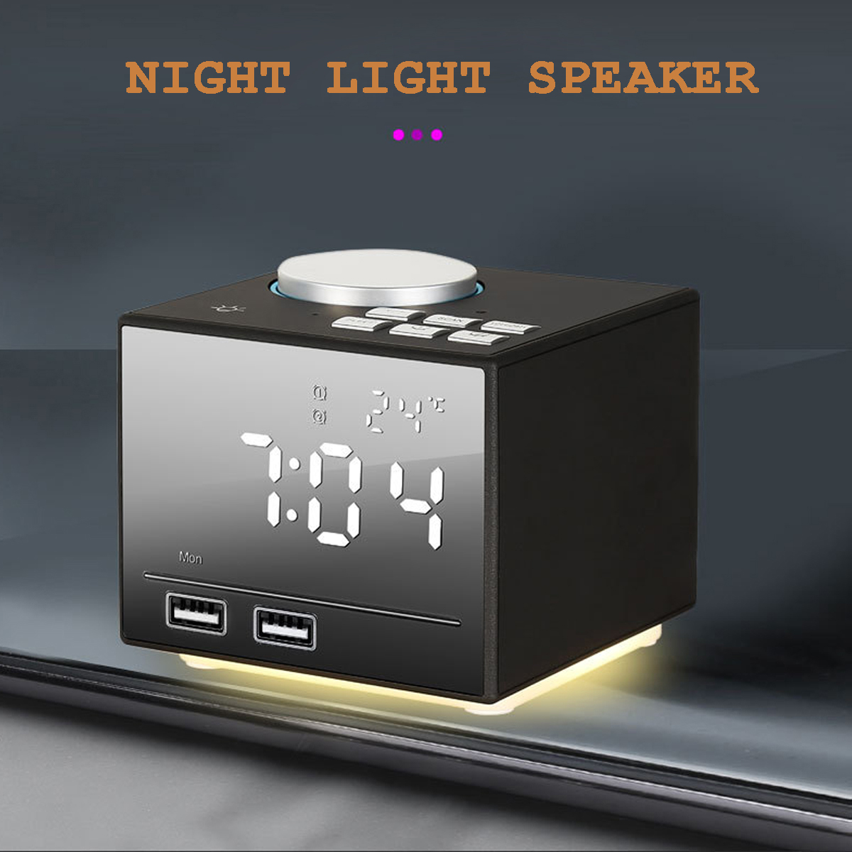 K3 Alarm Clock bluetooth Wireless Colorful Speaker USB Phone Charging U Disk TF Play Radio Speaker