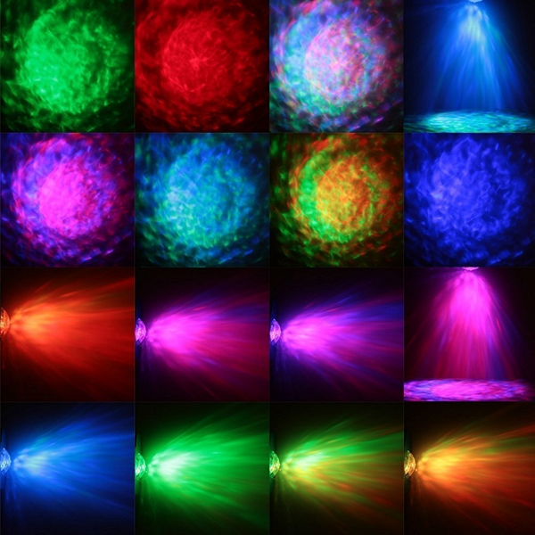 9W RGBW Remote Sound Control LED Water Wave Effect Magic Ball Stage Light for Christmas Party Disco