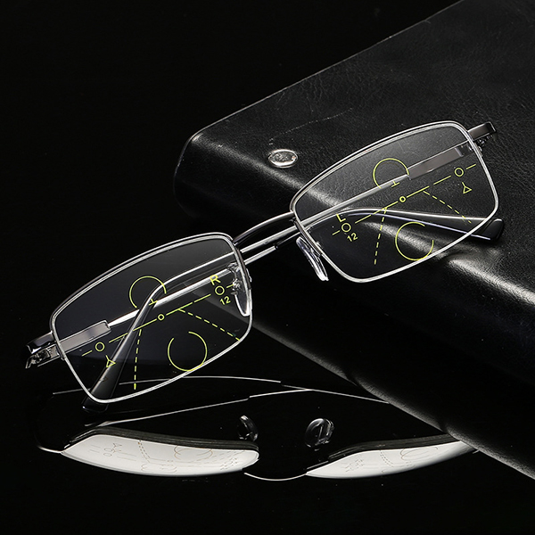 Semi Rimless Nearsighted Farsighted Reading Glasses