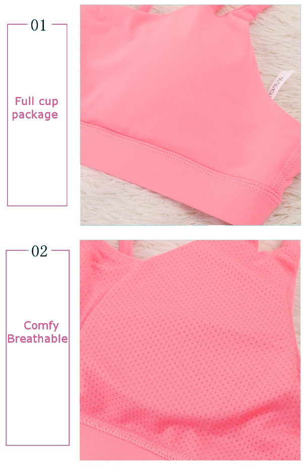 Sexy Cozy Quick Drying Shockproof Wireless Backless Breathable Fitness Yoga Bra