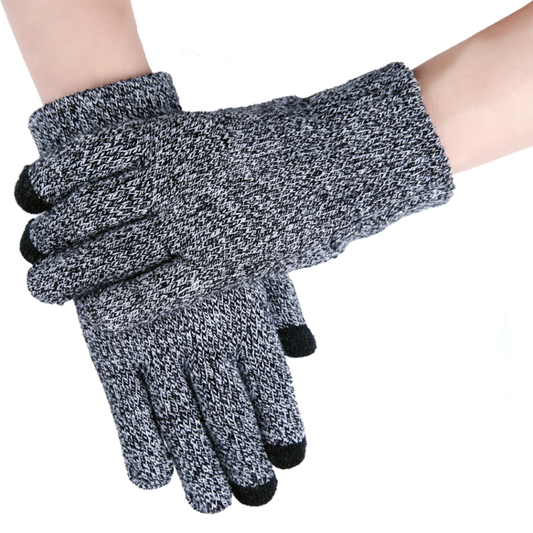 IWARM Unisex Winter Wrist Warmer Anti Skid Tough Screenn Knitted Gloves