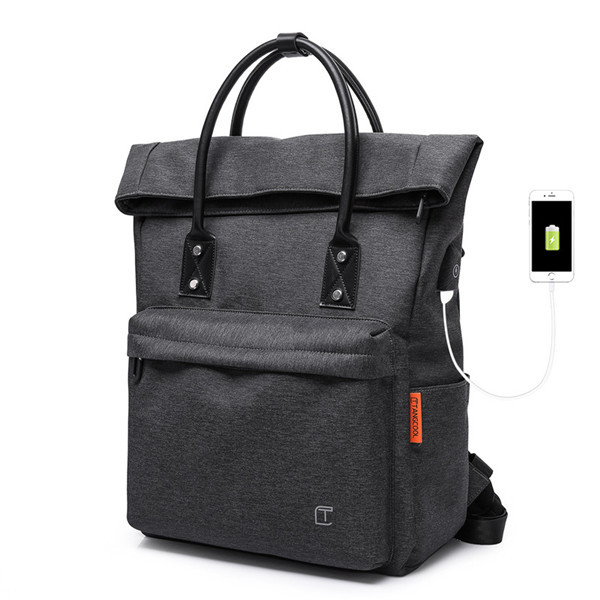 Men TANGCOOL USB Charging Port Handbag Multifunction Fashion Laptop Backpack