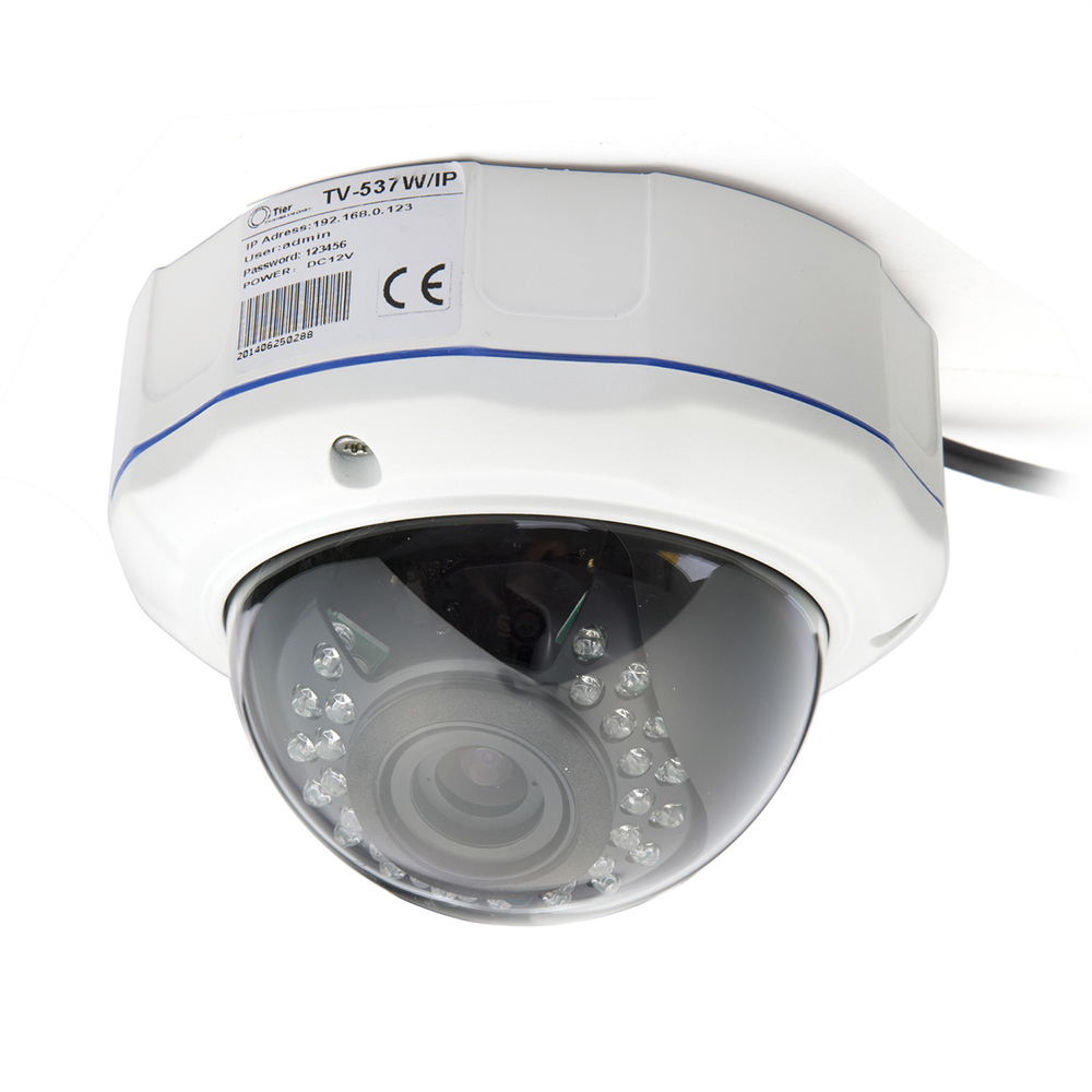 COTIER TV-537H5/IP AF POE H.264++ 5MP IP Camera Dome Camera Auto Focus 4x Zoom 2.8-12MM Lens Surveillance Cameras