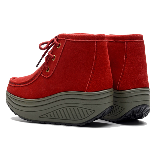Women Cotton Boots Fur Lining Rocker Sole Casual Sport Warm Shoes