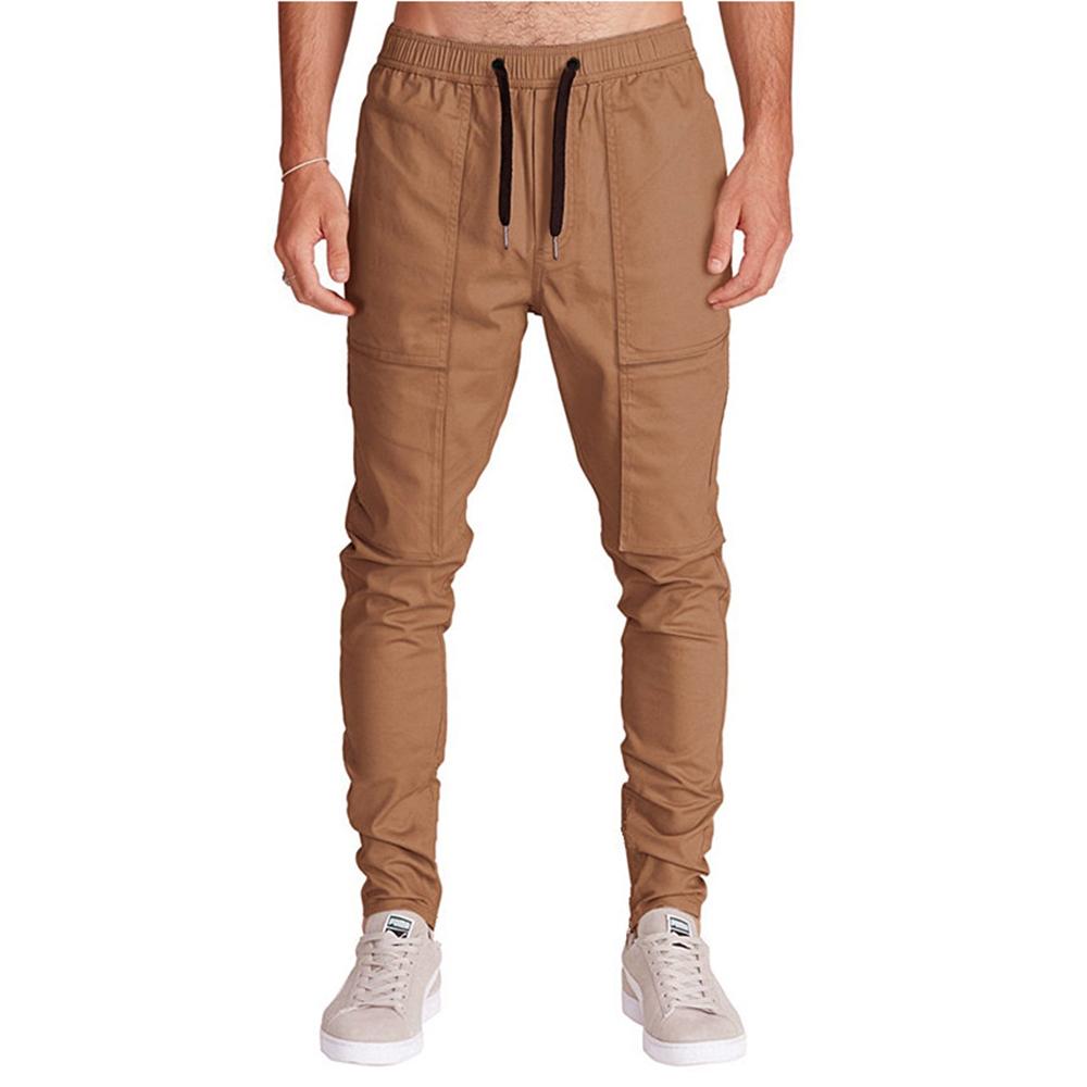 Men Fashion Loose Cotton Mid Rise Harem Outdoor Pants