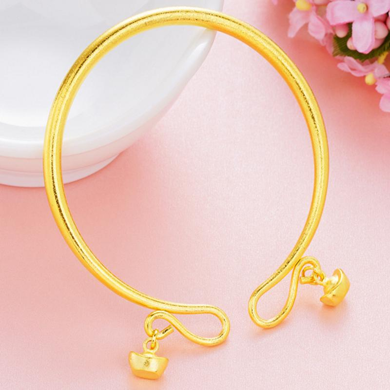 Trendy Copper Gold Plating Adjustable Matte Couple Bracelets