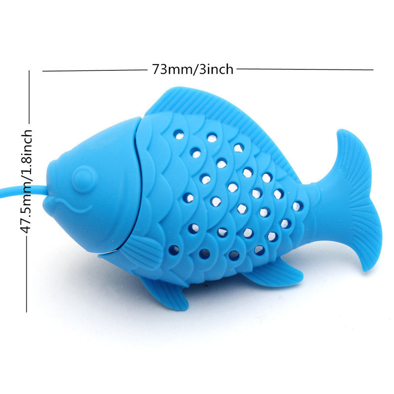 Silicone Fish Tea Strainer Infuser Tea Leaf Spice Herbal Filter Diffuser