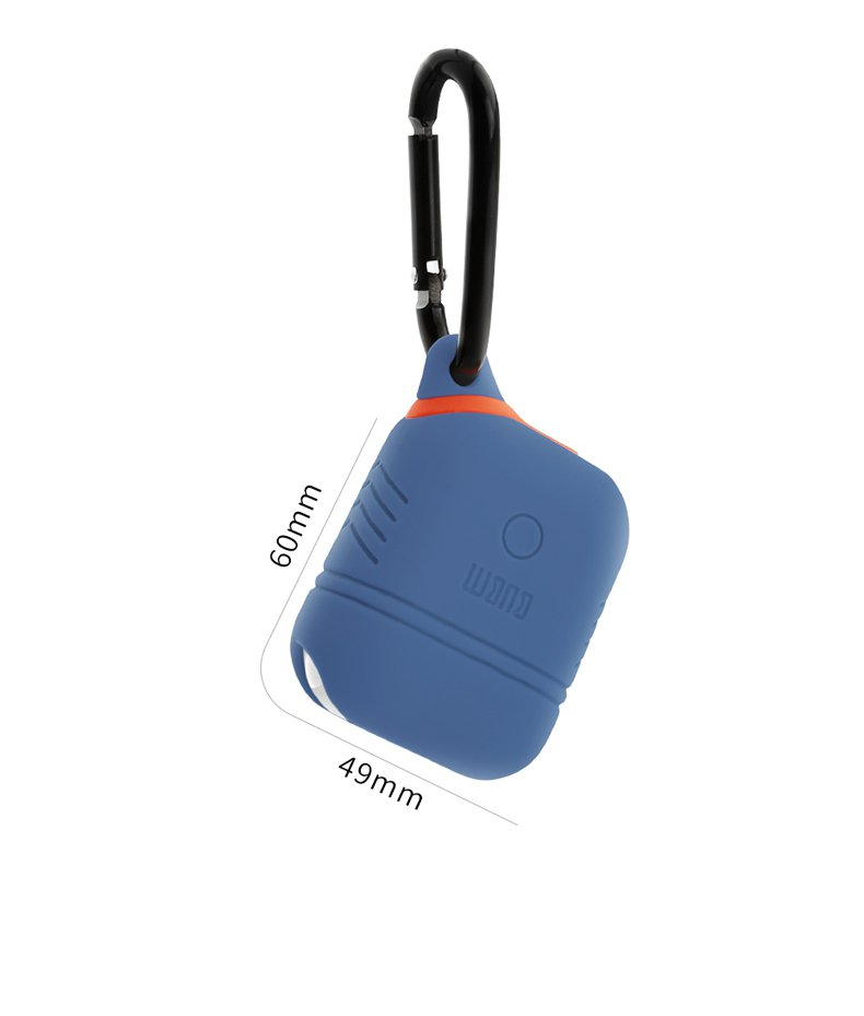 BUBM Waterproof Earphone Case With Hook & Strap For Apple AirPods