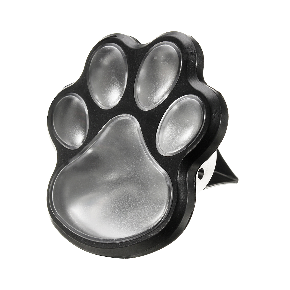 Solar Powered Pure White 4 Dog Animal Paw Print Outdoor