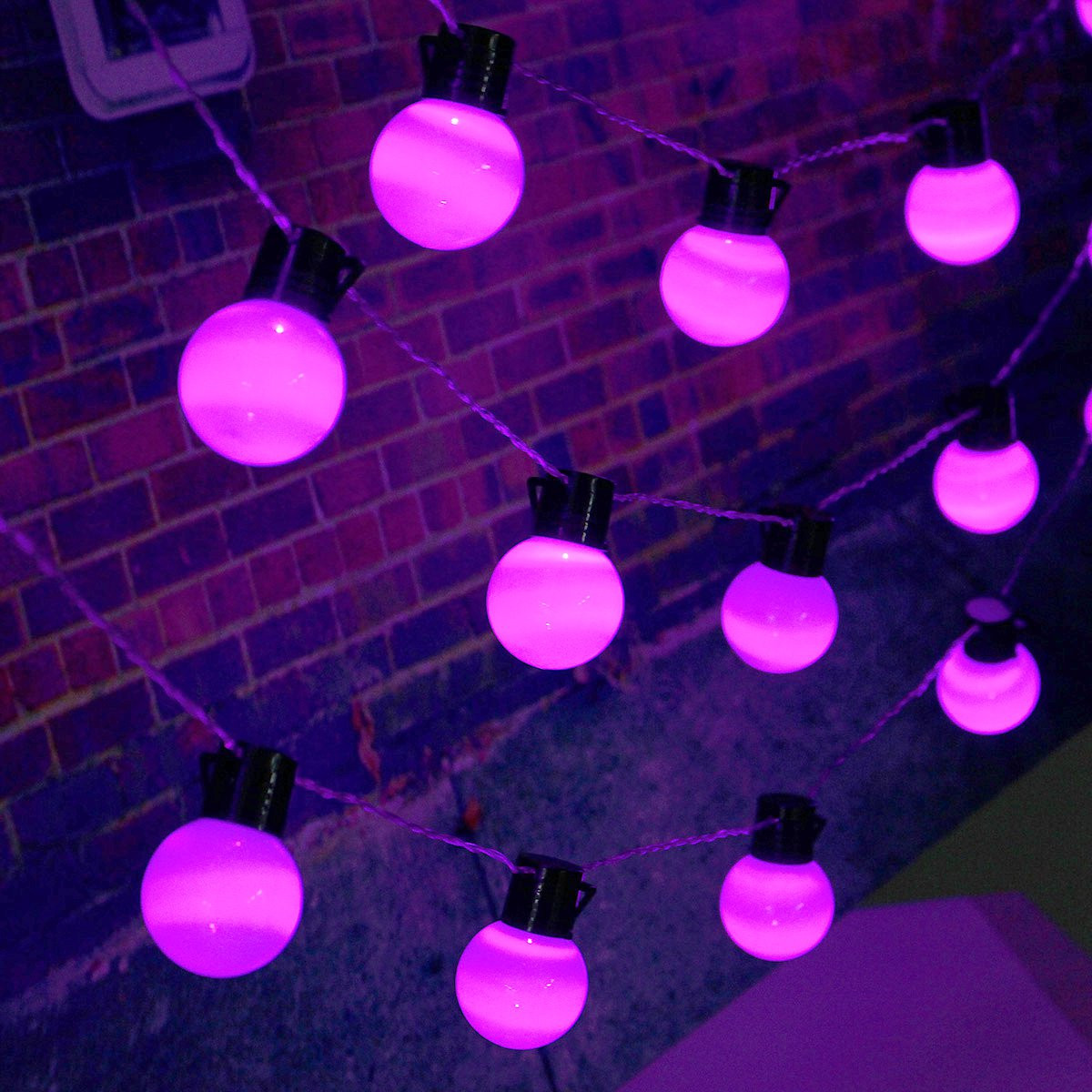 10m 38 Balls LED String Fairy Lights Party Xmas Wedding Holiday Lamp 220V EU Plug