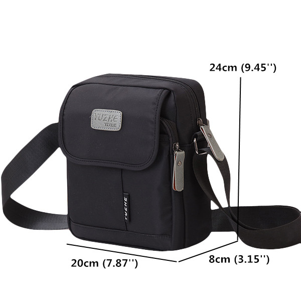 Women Men Nylon Light Shoulder Bags Flap Crossbody Bags Messenger Bags