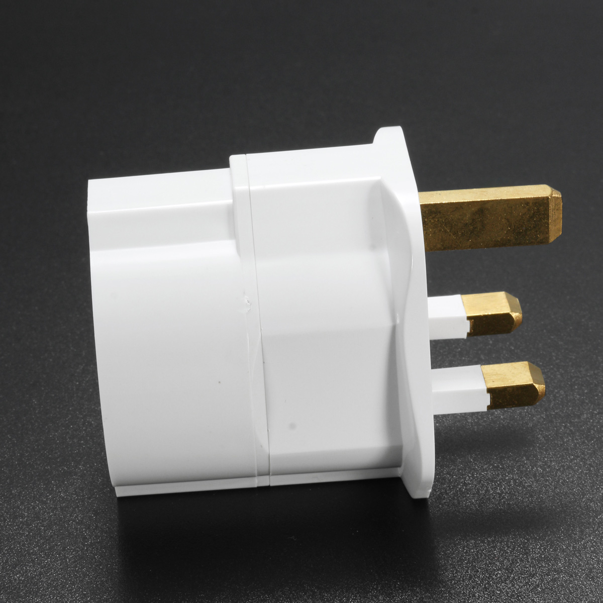 European 2 Pin to UK 3 Pin Plug Adaptor EU Schuko Travel Mains Adapter Max 3250W