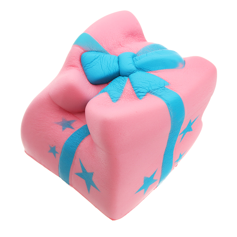Gift Box Cake Squishy Phone Strap Toy 7.5CM Slow Rising With Original Packaging
