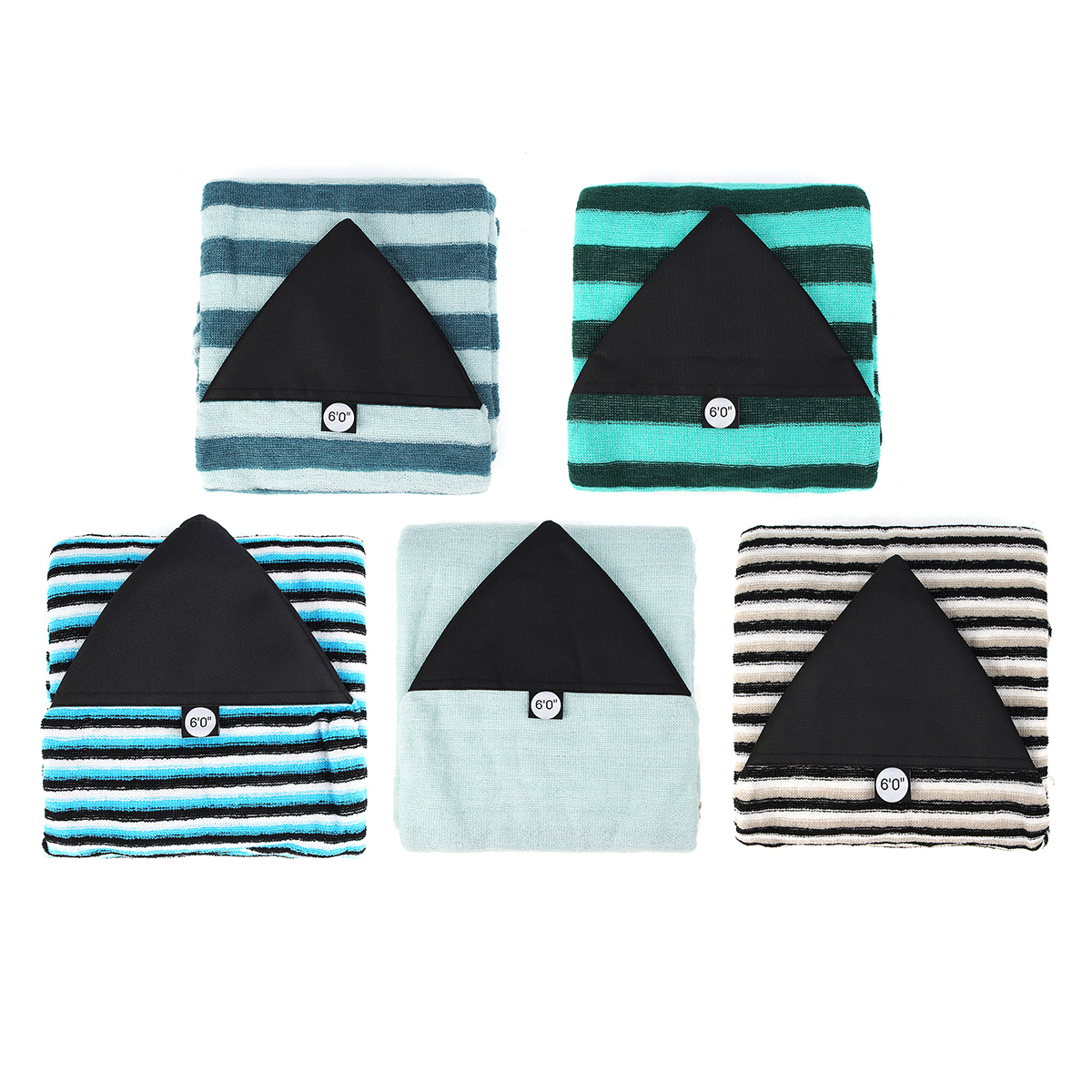 6ft Surfboard Sock Cover Protective Storage Bag For Funboard Shortboard Stretch Terry
