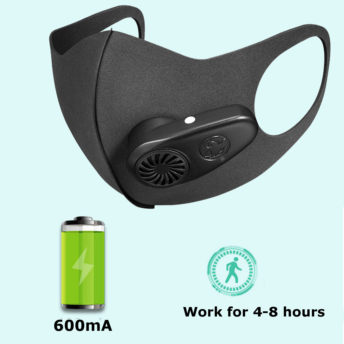 New Fresh Air Supply Face Mask N95 Anti Haze Electric Intelligent Dust Pollution Purifying