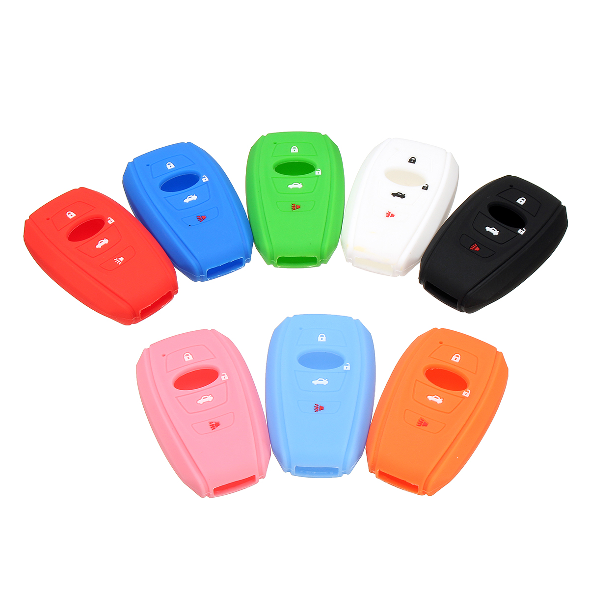4 Buttons Silicone Remote Key Case For Subaru Forester BRZ WRX HYQ14AHC 16-17
