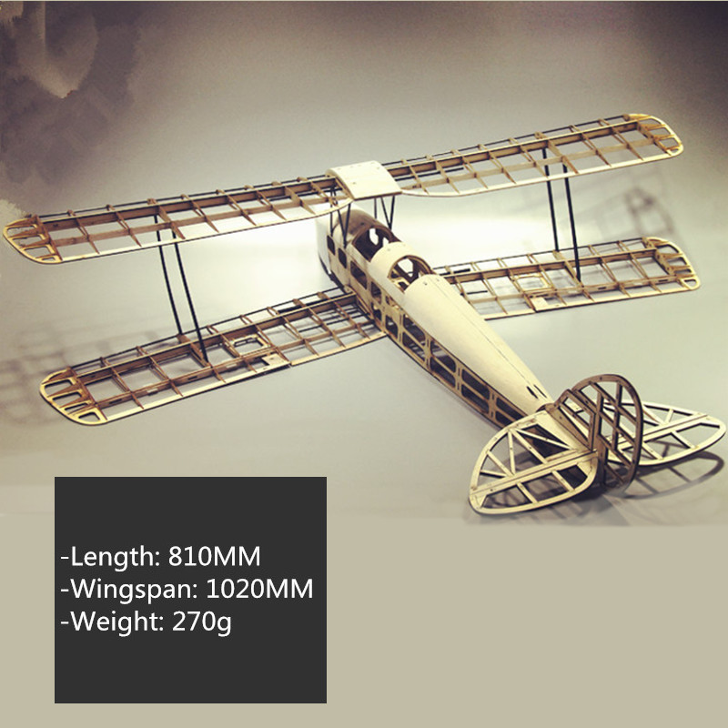 Light Wood Fixed Wing Kit Retro Tiger Wings Exercise Machine Remote Control Aeromodelling Plane Toy