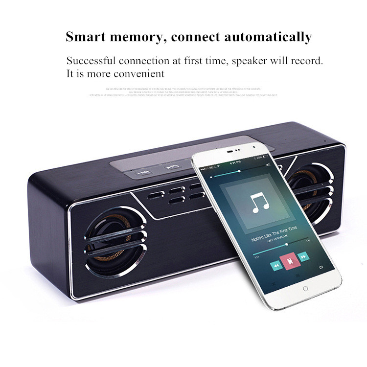 600T 5400mAh 3D DSP Full Aluminium TF Card Hands-free Wireless bluetooth 4.0 Speaker With Mic