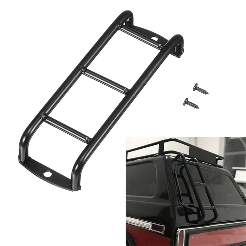 Black Stainless Metal Staircase Ladder for 1/10 Ford Bronco TRX4 90046 90047 KM2 Rc Car Parts