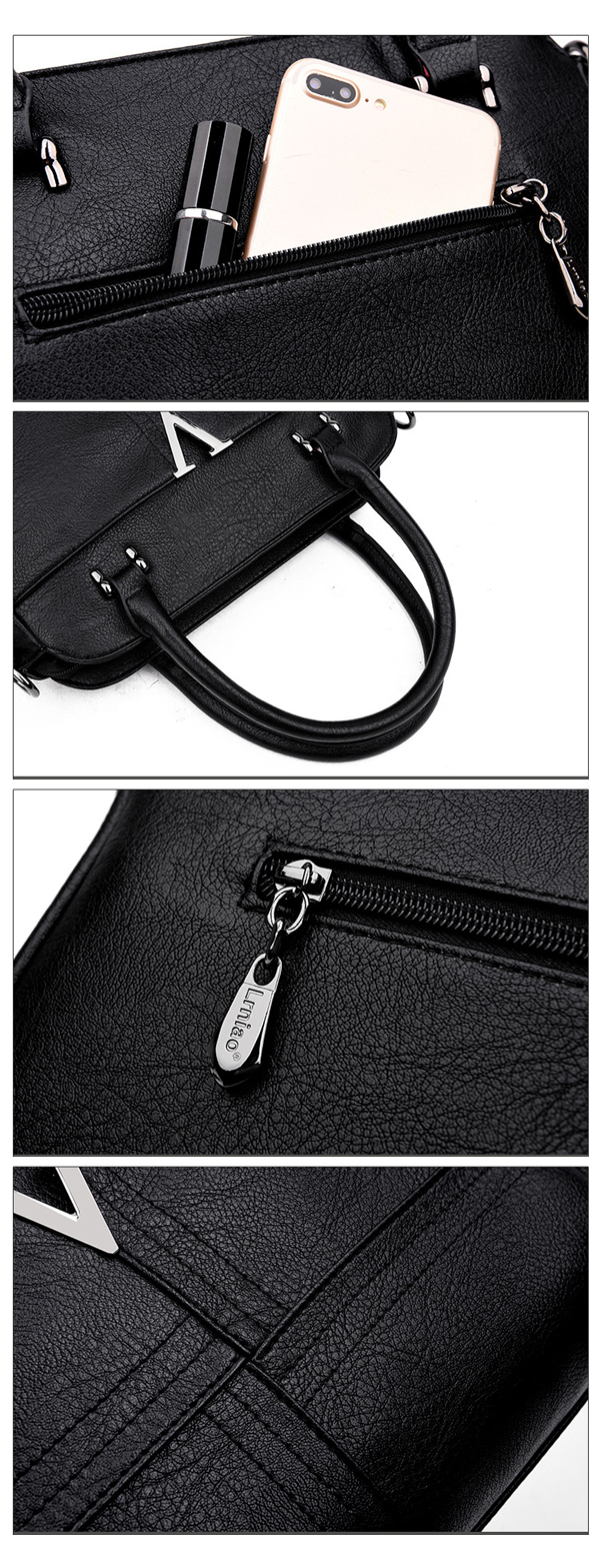 Women Classic Pu Leather Crossbody Bag Handbag