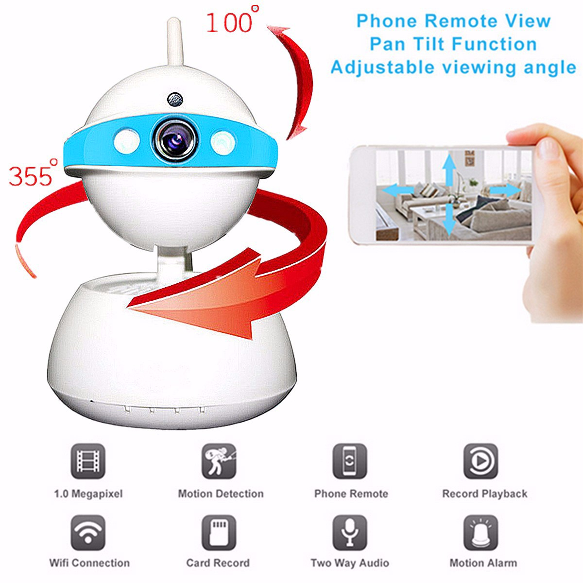 Wireless 720P WiFi Network Security Camera IR Infrared Baby Monitor Night Vision