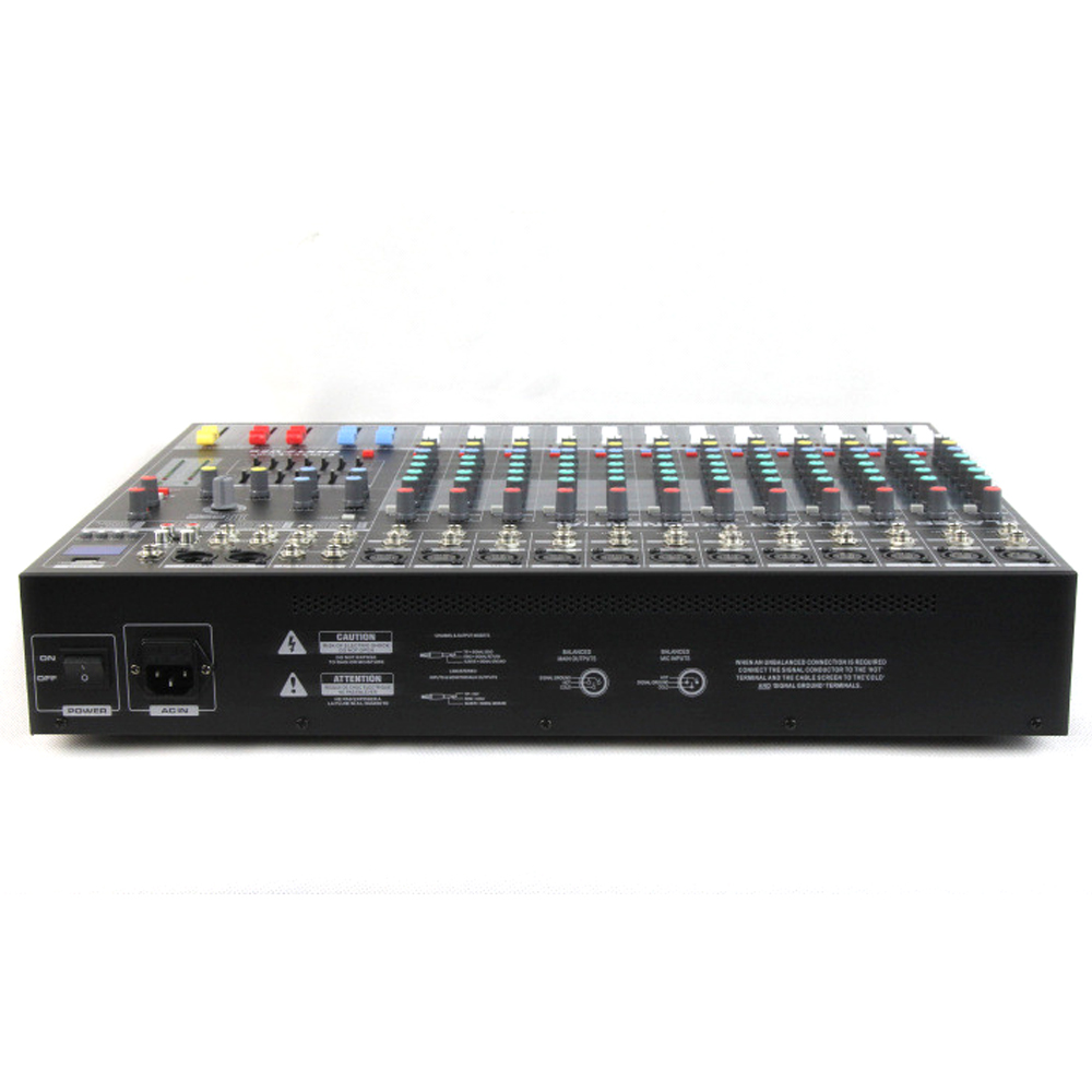 Executant EMX12 12 Channel Professional Stage Live Audio Sound Mixer USB Mixing Console KTV Bar Club
